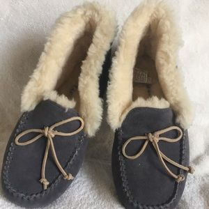 Genuine Ugg Shearling Lined Slippers.